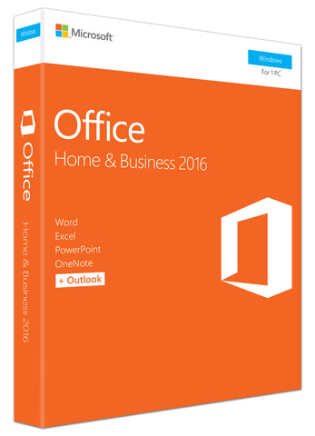 Microsoft Corporation  Office 2016 Home & Business - 1 PC - Medialess