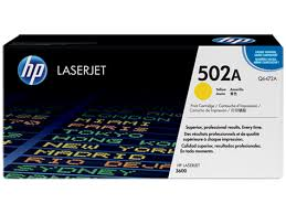 HP 502A (Q6472A) Color LaserJet 3600 Yellow Original LaserJet Toner Cartridge (4000 Yield)