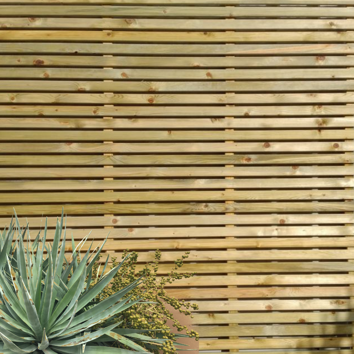 Slatted Wooden Fence Panel Ideas