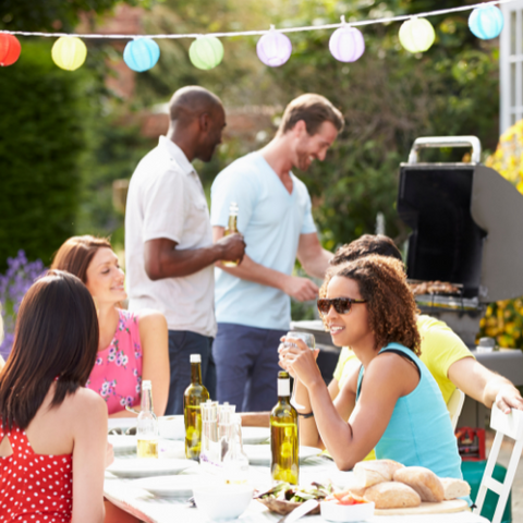 people having a bbq for some summer fun in the garden