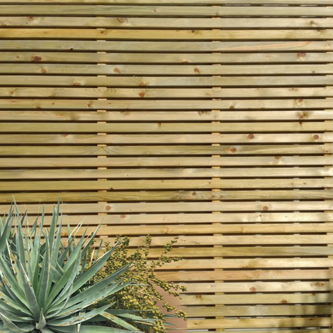 Slatted Wooden Fence Panel Ideas - Example of slatted fencing
