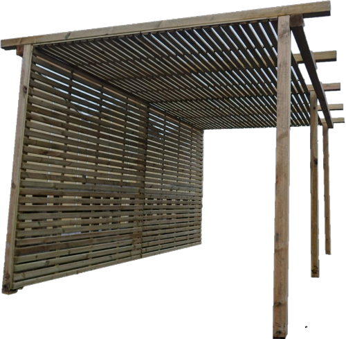 Tempo Slats Pergola - www.contemporarygarden.co.uk