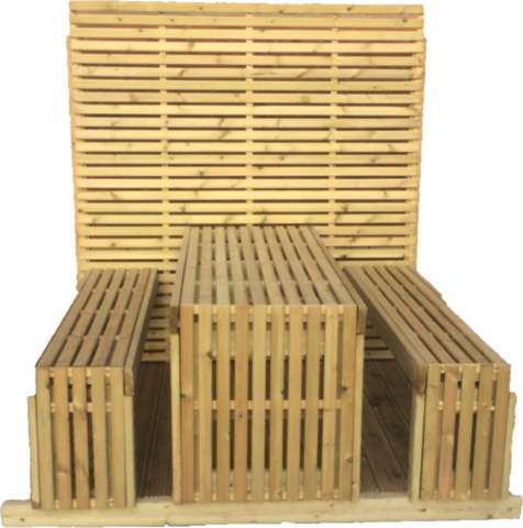 Tempo Table & Bench Kit - www.contemporarygarden.co.uk