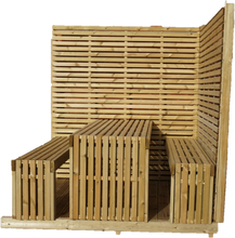 Load image into Gallery viewer, Corner Tempo Table & Bench Kit - www.contemporarygarden.co.uk