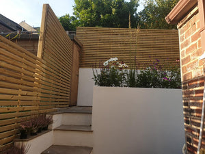 Tempo Slats Fence Panel - www.contemporarygarden.co.uk