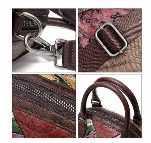 BATIK Genuine Leather Women's Handbag - High Quality Materials