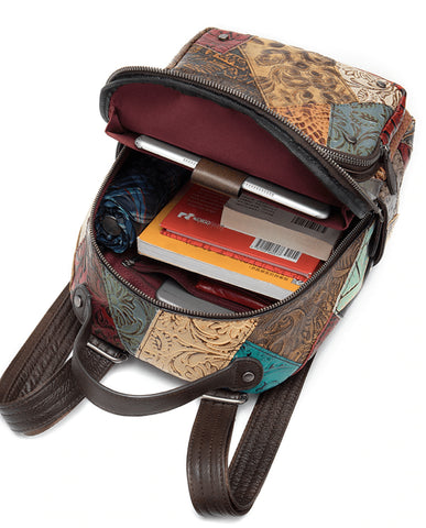 BATIK Women's Vintage Backpack - Inside View