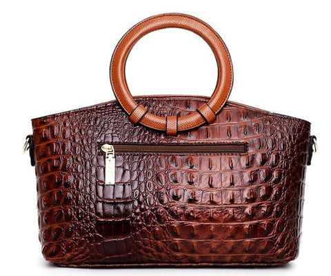 BOLSAS Alligator Leather Bag - Back View - The Store Bags