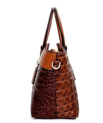 BOLSAS Alligator Leather Bag - Side View - The Store Bags