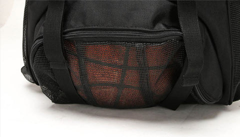 Basketball Gym Bag With Front Side Mesh Pocket
