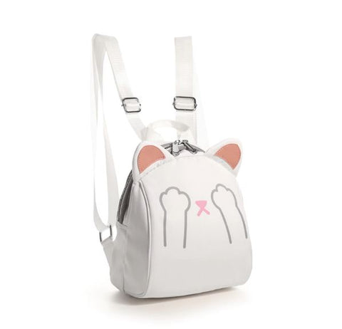 Bessy White Mini Cat Backpack