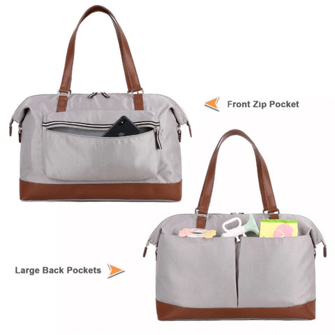Diaper Bag For Twin With Front And Back Pockets