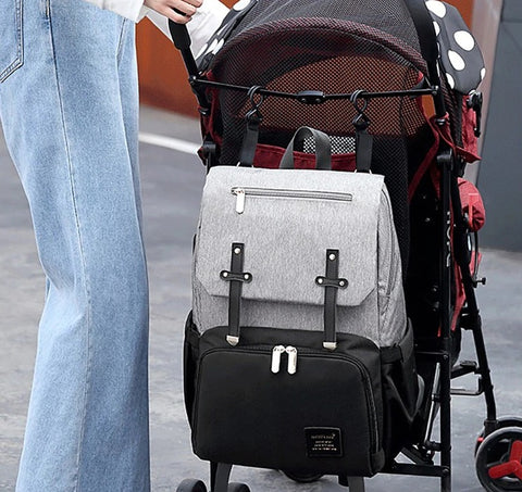 FAMICARE-Diaper-Bag-With-USB-Port-Strollers-Strap