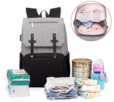 FAMICARE Diaper Bag With USB Port - Large Capacity - The Store Bags