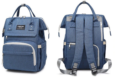 FAMICARE Diaper USB Backpack - Back Pockets