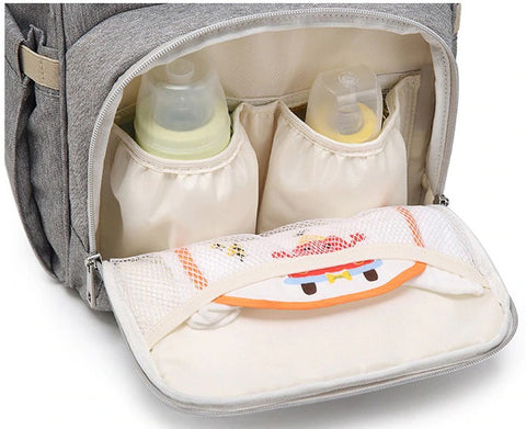 FAMICARE Diaper USB Backpack - Insulated Pockets