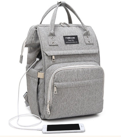 FAMICARE Diaper USB Backpack