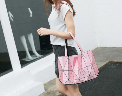 Geometric Women's Shoulder Bag Pink