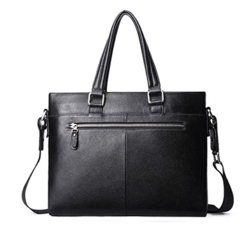 LAORENTOU Document Bag Leather - Back View - The Store Bags