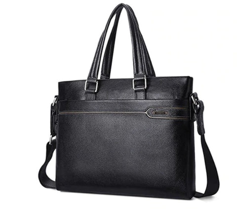 LAORENTOU Document Bag Leather - Front View - The Store Bags
