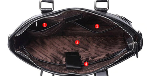 LAORENTOU Document Bag Leather - Interior View - The Store Bags
