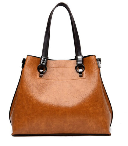 L&M Handbag Leather Brown - Back View - The Store Bags