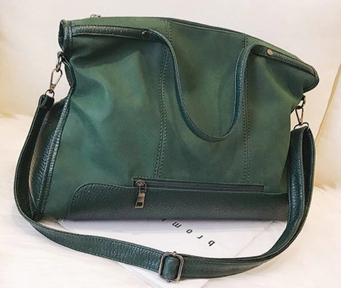 L&M Handbag Leather Tote - Green - The Store Bags