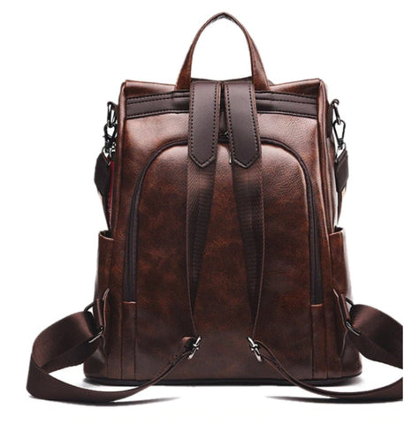 L&M Leather Handbag Backpack Convertible - Back View - The Store Bags