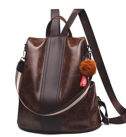 L&M Leather Handbag Backpack Convertible - Front View - The Store Bags