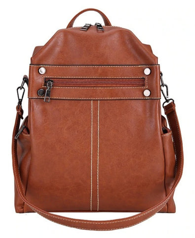 L&M Women's Backpack 3 in 1 - Brown - The Store Bags