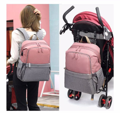 MACHINE BIRD Diaper Bag With USB - Stroller Straps - The Store Bags