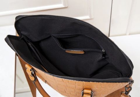 MAIRY Document Bag Leather - Interior View - The Store Bags