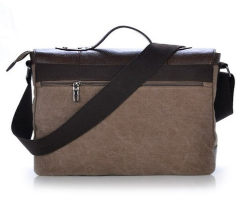 MANJIANG Vintage Messenger Bag Canvas - Back View - The Store Bags