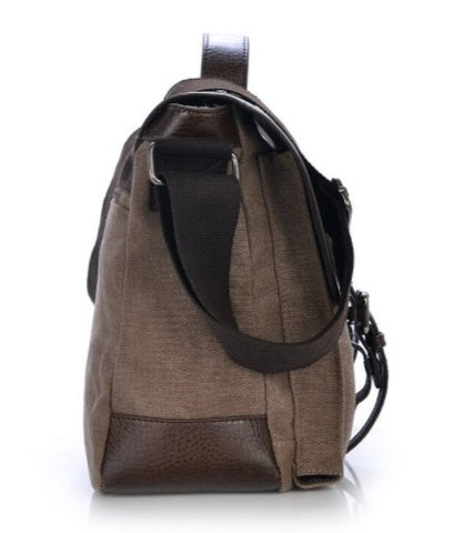 MANJIANG Vintage Messenger Bag Canvas - Side View - The Store Bags