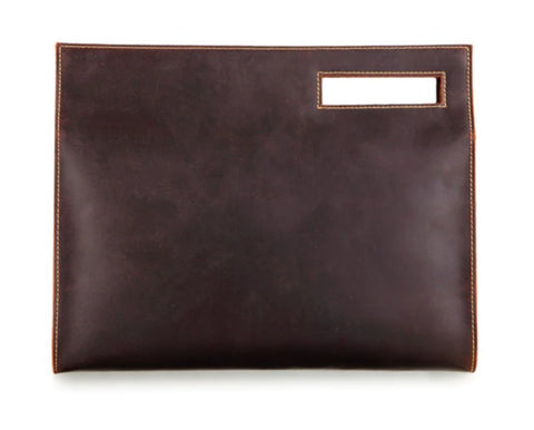 MASSON Document Bag Leather - Back View - The Store Bags