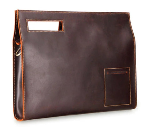 MASSON Document Bag Leather - Front View - The Store Bags