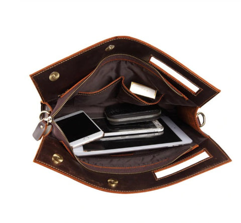MASSON Document Bag Leather - Interior View - The Store Bags