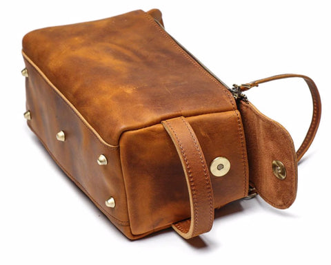 Masson Luxury Men's Toiletry Bag - Made From Genuine Horse Leather