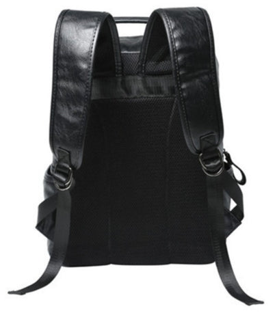Masson Men's Professional Leather Backpack - Back View - The Store Bags