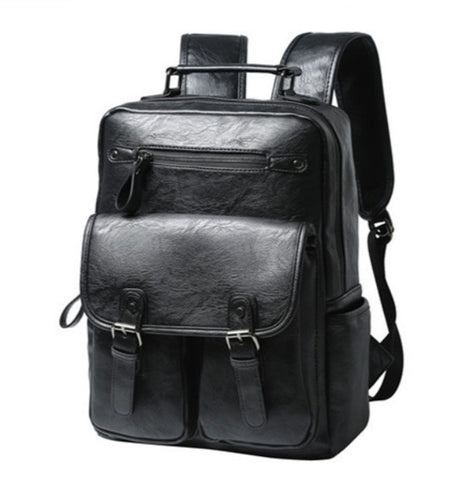 Masson Men's Professional Leather Backpack - Front View - The Store Bags