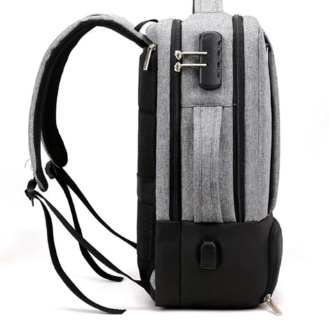 Men's Convertible Backpack Anti Theft Protection
