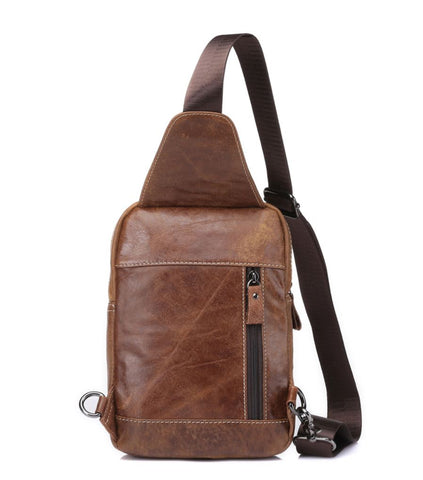 Men's Crossbody Sling Bag Genuine Leather
