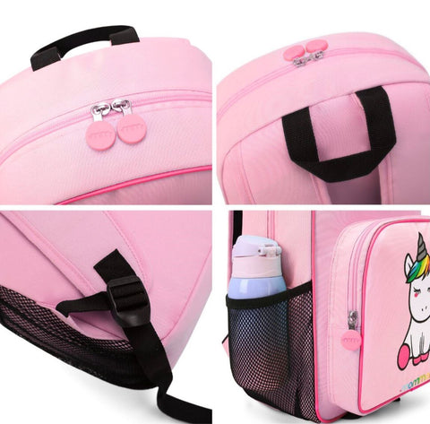 Mommore Unicorn School Backpack - Side Mesh Bottle Pockets