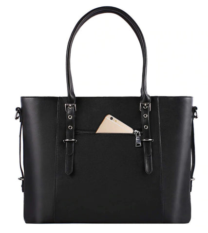 Mosiso Laptop Tote Bag Leather - Hidden Back Pocket - The Store Bags