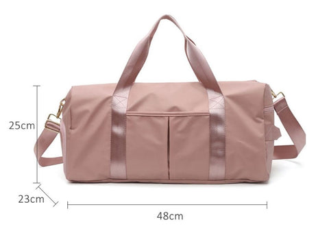 Pink Gym Bag Large Capacity