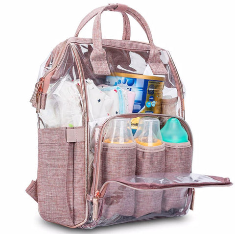 SOBO Clear Diaper Bag - Front View - The Store Bags