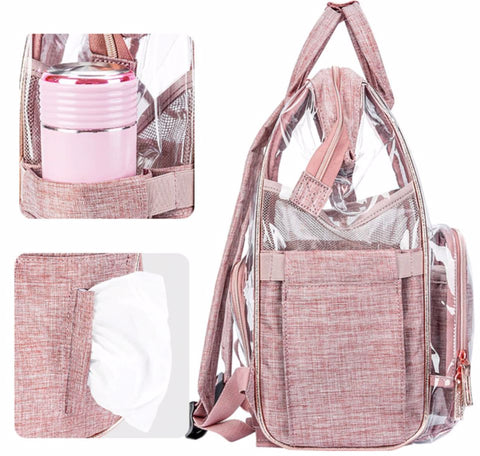 SOBO Clear Diaper Bag - Side Pockets - The Store Bags