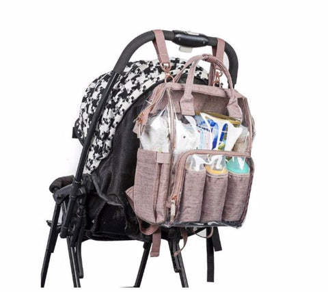 SOBO Clear Diaper Bag - Stroller Clips - The Store Bags