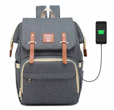 SOGUPIG Diaper Bag With USB Charger - Waterproof Exterior - The store Bags