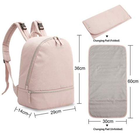 Small Backpack Diaper Bag With Changing Pad